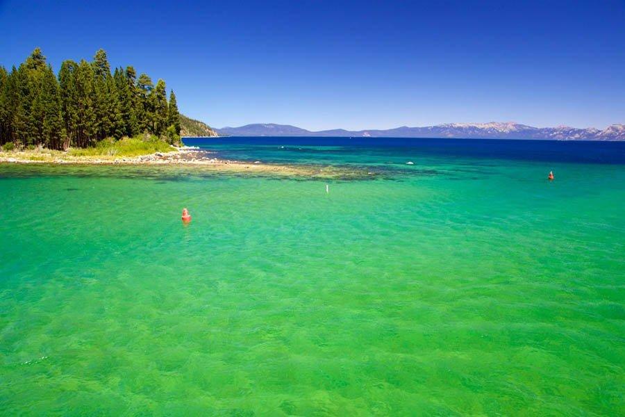 Emerald Water in Lake Tahoe