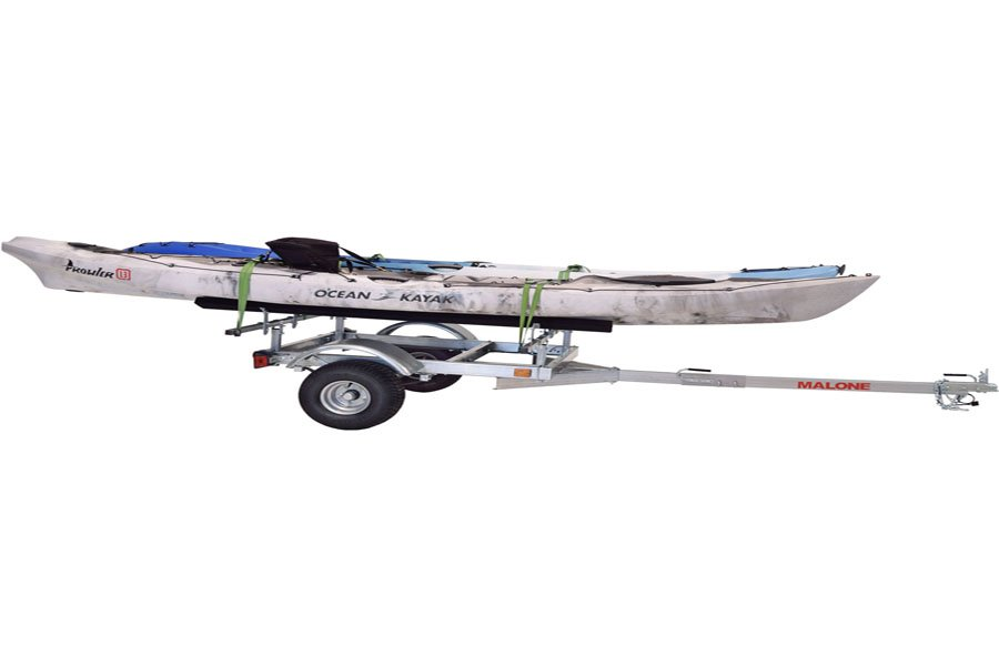 Extra light kayak trailer