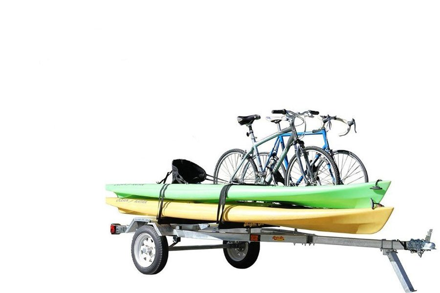 Kayaks and bikes trailer