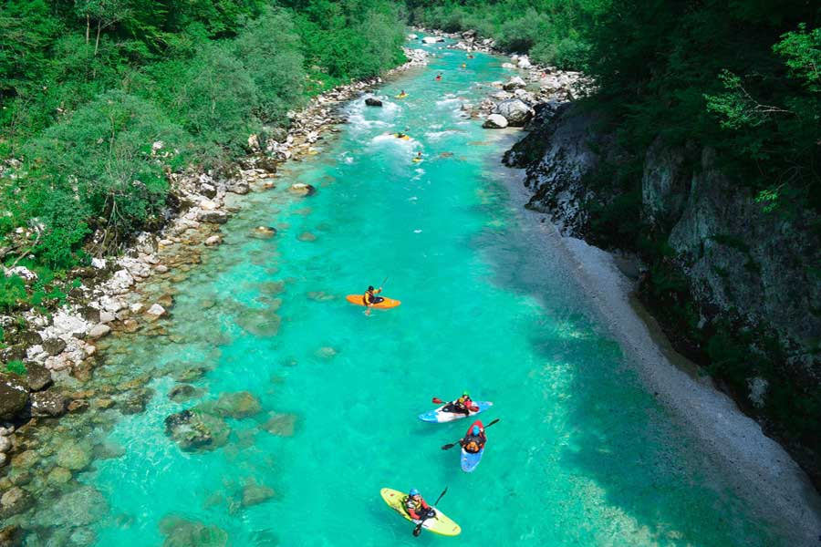 River Kayaking - Emerald water