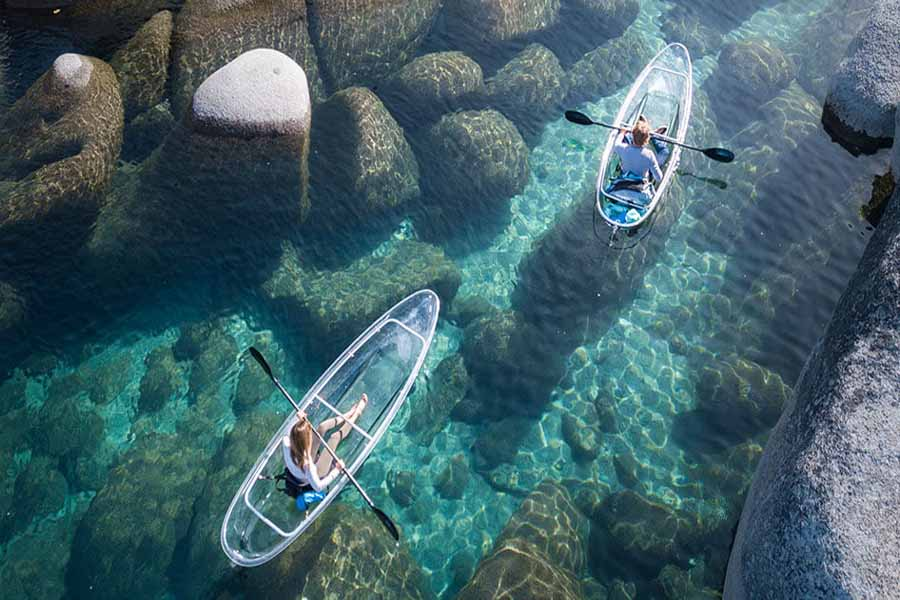 Transparent Kayaks Lake Tahoe