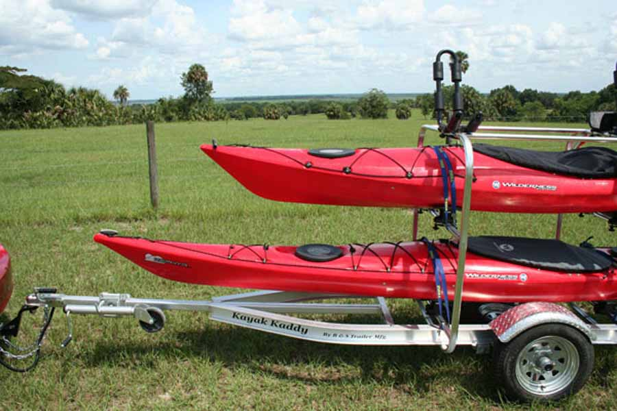 Two kayaks trailer